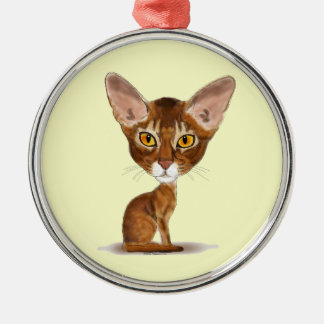 Caricature Abyssinian Christmas Tree Ornaments