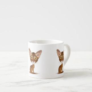 Caricature Abyssinian 6 Oz Ceramic Espresso Cup