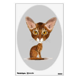 Caricature Abyssinian Wall Sticker