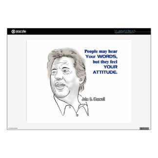 "Caricature and Quote 14"" Laptop Decals"