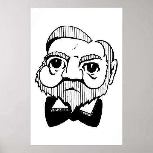 Caricature Andrew Carnegie Poster