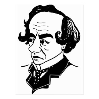 Caricature Benjamin Disraeli Postcard