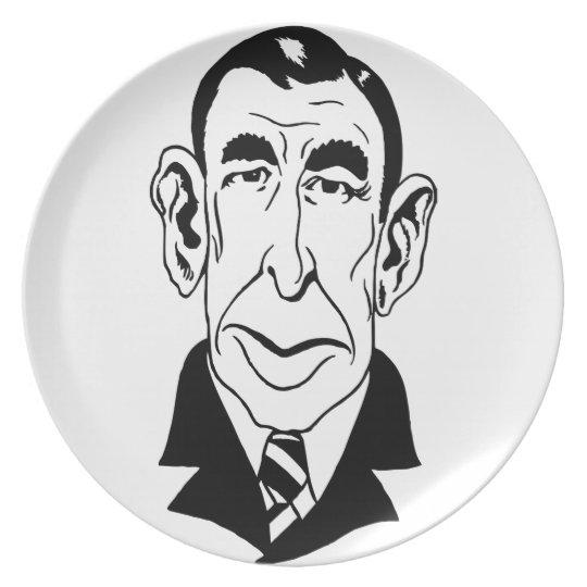 Caricature Booth Tarkington Dinner Plate