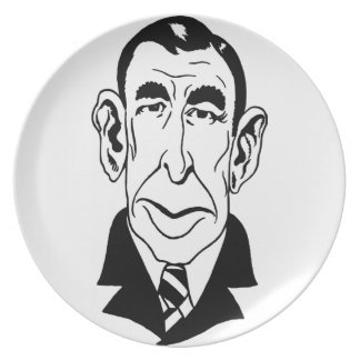 Caricature Booth Tarkington Party Plates