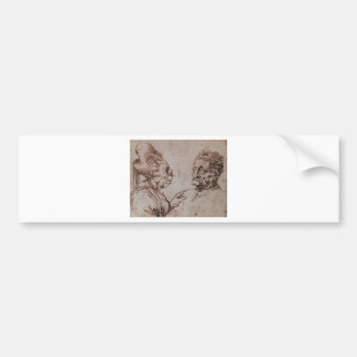 Caricature by Leonardo da Vinci Bumper Sticker