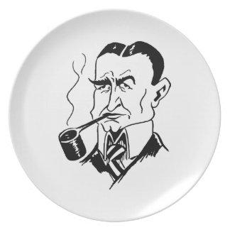 Caricature Charles Gates Dawes Dinner Plate