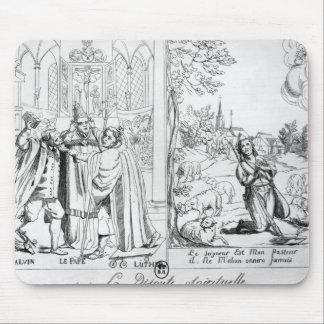 Caricature depicting a Spiritual Dispute Mouse Pad