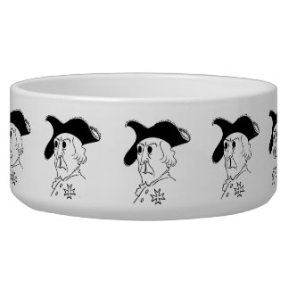 Caricature Frederick the Great Dog Water Bowls