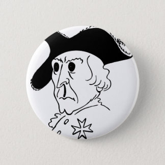 Caricature Frederick the Great Pinback Button