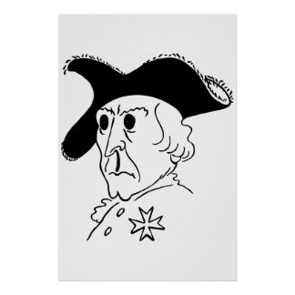 Caricature Frederick the Great Print