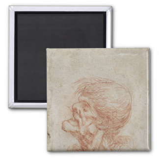 Caricature Head Study of an Old Man, c.1500-05 Magnet