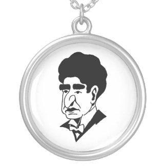 Caricature Josef Lhevinne Round Pendant Necklace