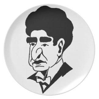 Caricature Josef Lhevinne Party Plates