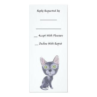 Caricature Korat 4x9.25 Paper Invitation Card