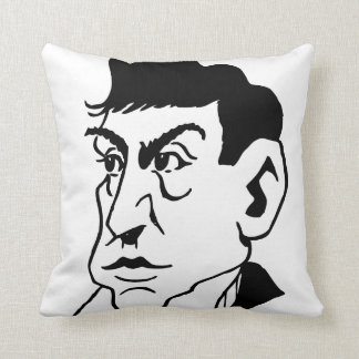 Caricature Marquis de Lafayette Throw Pillow