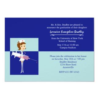 Caricature Nurse Graduation Invitation