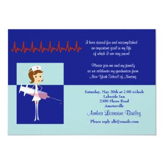 Caricature Nursing School Graduation Invitation #2