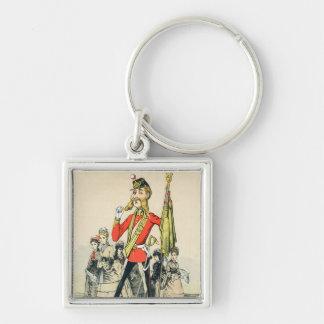 Caricature of a Victorian British Soldier Keychain