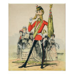Caricature of a Victorian British Soldier Print