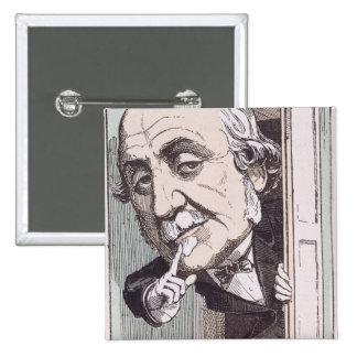 Caricature of Albert, Duc de Broglie Pins