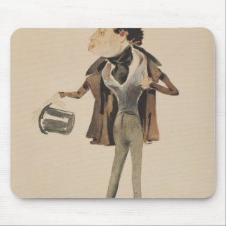 Caricature of Alexander Dumas Pere Mouse Pad