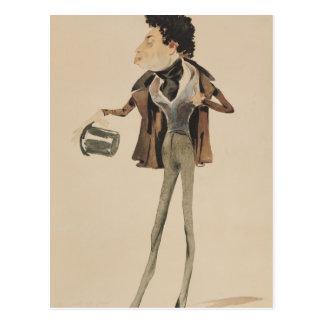 Caricature of Alexander Dumas Pere Postcard