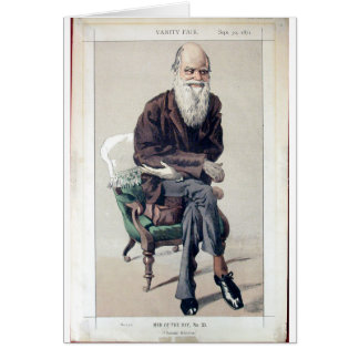 Caricature of Charles Darwin from Vanity Fair Card