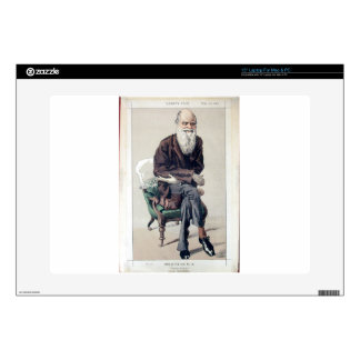 """Caricature of Charles Darwin from Vanity Fair Decal For 15"""" Laptop"""