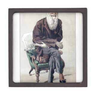 Caricature of Charles Darwin from Vanity Fair Gift Box