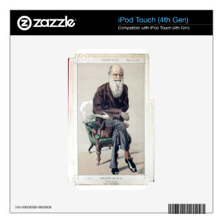 Caricature of Charles Darwin from Vanity Fair Skin For iPod Touch 4G