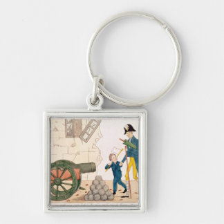Caricature of Charles X  and Henri Duc de Keychain
