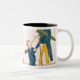Caricature of Charles X  and Henri Duc de Two-Tone Coffee Mug