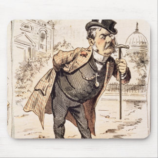 Caricature of Chester Alan Arthur, c.1883 Mouse Pad