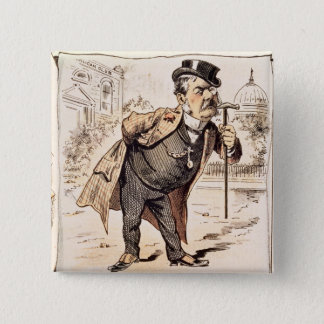 Caricature of Chester Alan Arthur, c.1883 Pinback Button