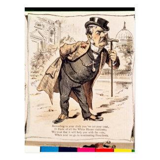 Caricature of Chester Alan Arthur, c.1883 Postcard