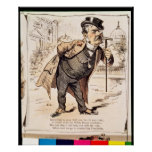 Caricature of Chester Alan Arthur, c.1883 Poster