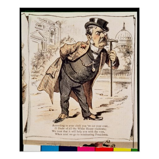 Caricature of Chester Alan Arthur, c.1883 Posters