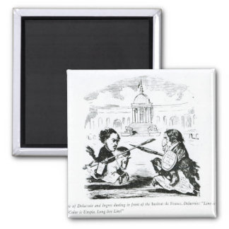 Caricature of Delacroix and Ingres Magnet