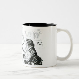 Caricature of Delacroix and Ingres Two-Tone Coffee Mug