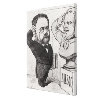 Caricature of Emile Zola Canvas Print