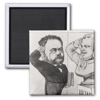 Caricature of Emile Zola Magnet