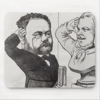 Caricature of Emile Zola Mouse Pad