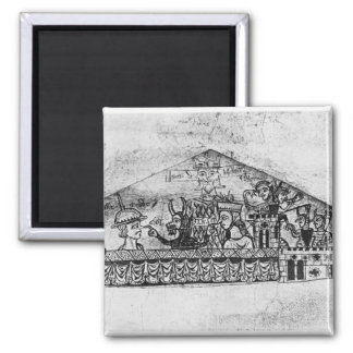 Caricature of English Jews, from a Haggadah 2 Inch Square Magnet