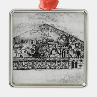 Caricature of English Jews, from a Haggadah Metal Ornament