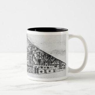 Caricature of English Jews, from a Haggadah Two-Tone Coffee Mug