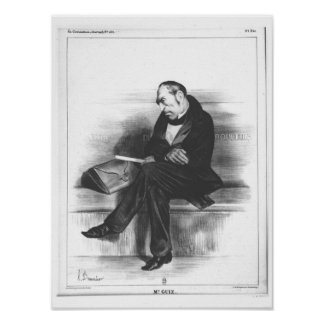 Caricature of Francois Guizot , 'La Poster