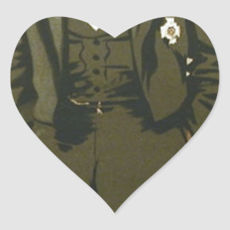 Caricature of General Sir Frederick Paul Haines Heart Sticker