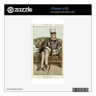 Caricature of George Whyte Melville James Tissot iPhone 4 Decal