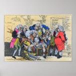 Caricature of Georgian Surgeons at work, 1793 Poster