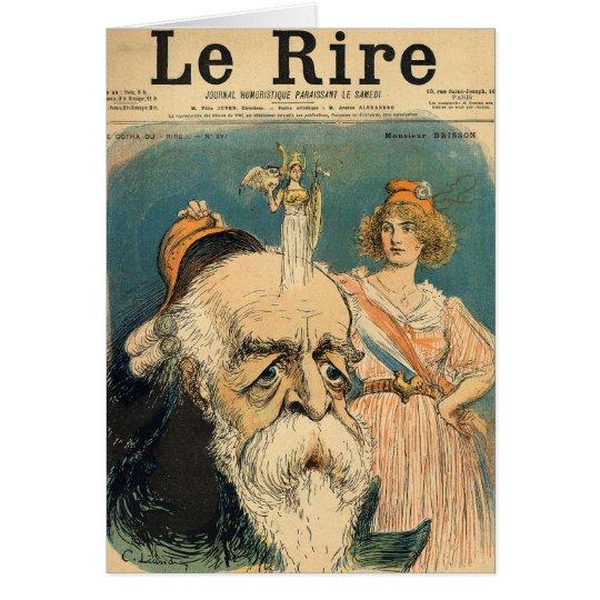 Caricature of Henri Brisson, Card